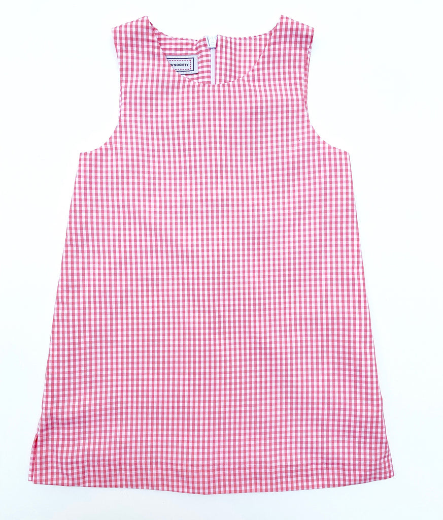 Coral Gingham Shift- 30% off!