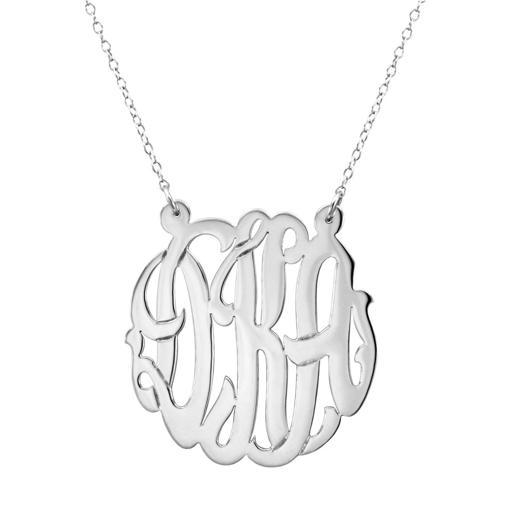 Metal Monogram Necklace