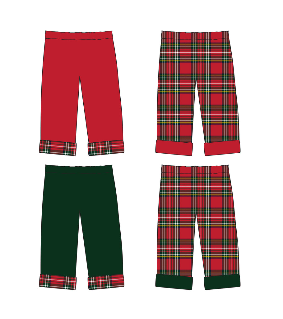 Reversible Holiday Pants