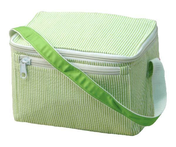 Seersucker Box Lunch Tote (7 Colors)