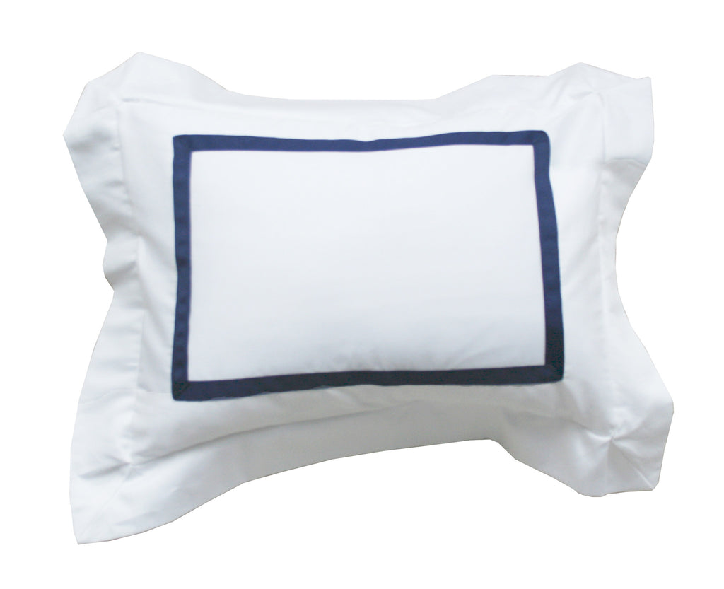 Sateen Pillow with Grosgrain Trim