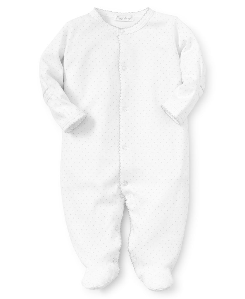 Footed Onesie- Polka Dots