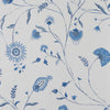 Indian Chintz - White on Power Blue