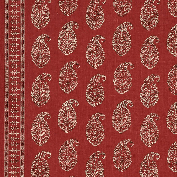 Kashmir Paisley - Tea/Red