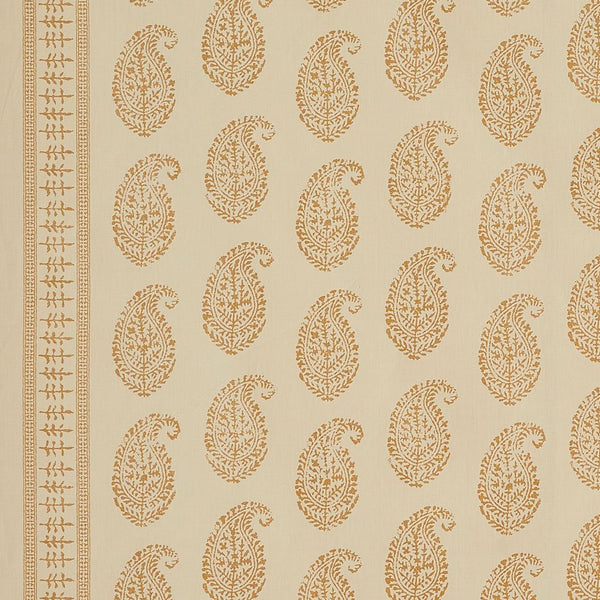 Kashmir Paisley - Gold/Natural