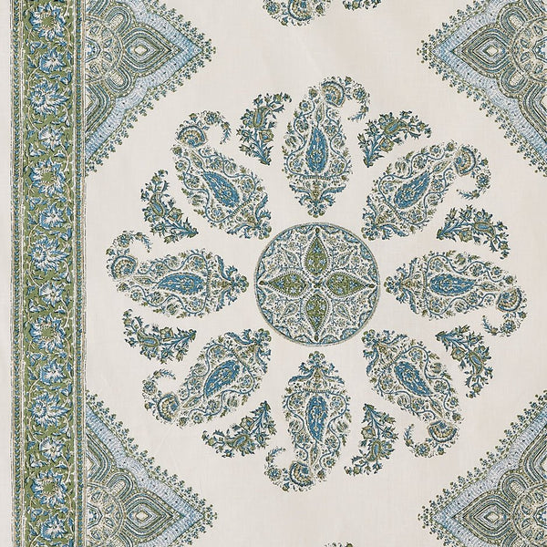 Samarkand - Blue/Green on White