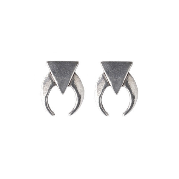 Midnight Crescent Earrings (view more colors) - ANTIQUE SILVER - The 2 Bandits - 1
