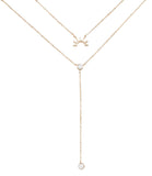 Lookout Mountain Necklace - 14K GOLD PLATED / SIMULATED OPAL - The 2 Bandits - 1
