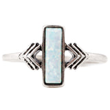 Zion Ring - ANTIQUE SILVER / SIMULATED OPAL - The 2 Bandits - 1