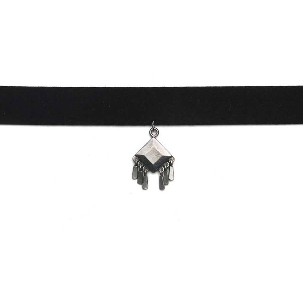 CALISTOGA CHOKER - ANTIQUE SILVER - The 2 Bandits - 1