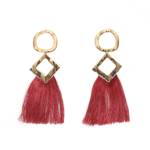 Geometric Tassel Earrings (view more colors)