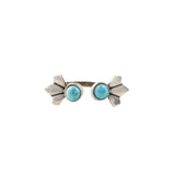 Daytripper Open Ring (view more colors) - ANTIQUE SILVER / HOWLITE TURQUOISE - The 2 Bandits - 3
