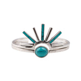 Lookout Mountain Cuff Set (view more colors) - ANTIQUE SILVER / HOWLITE TURQUOISE - The 2 Bandits - 2