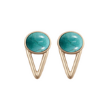 The Wall Earrings (view more colors) - 22K GOLD PLATED / HOWLITE TURQUOISE - The 2 Bandits - 10