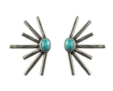 Sunshine Daydream Earring (view more colors) - ANTIQUE SILVER / HOWLITE TURQUOISE - The 2 Bandits - 4