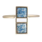 Double Square Cuff (view more colors) - 22K GOLD PLATED / DENIM LAPIS - The 2 Bandits - 3