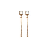 The Narrow Trail Earring (view more colors) - 22K GOLD PLATED / BONE - The 2 Bandits - 5
