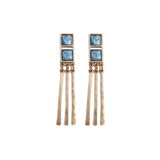 Roped In Earring (view more colors) - 22K GOLD PLATED / DENIM LAPIS - The 2 Bandits - 1