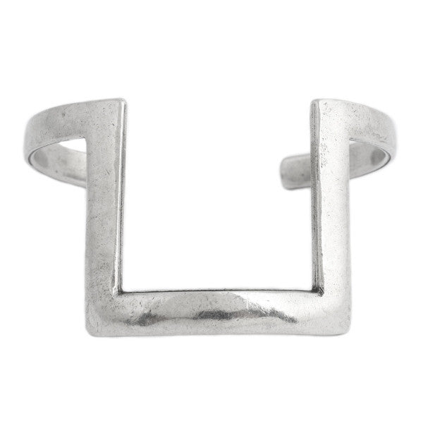 Square Cuff (view more colors) - ANTIQUE SILVER - The 2 Bandits - 1