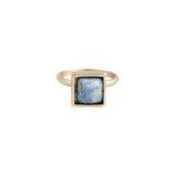 Square Ring (view more colors) - 22K GOLD PLATED / DENIM LAPIS / 7 - The 2 Bandits - 1