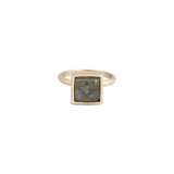 Square Ring (view more colors) - 22K GOLD PLATED / LABRADORITE / 7 - The 2 Bandits - 3