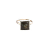 Square Ring (view more colors) - ANTIQUE SILVER / LABRADORITE / 7 - The 2 Bandits - 5