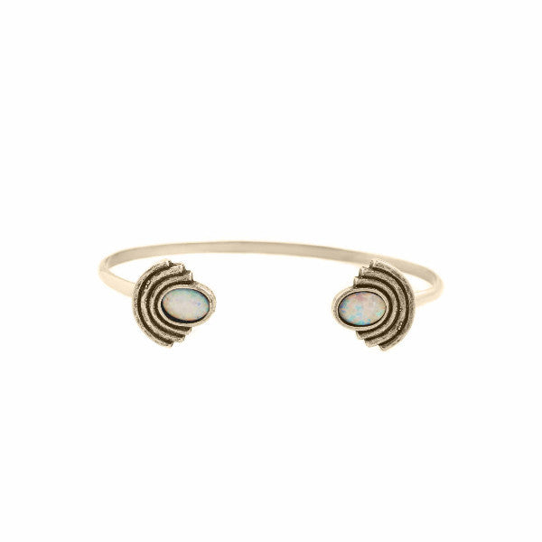Moonlight Open Cuff (View More Colors) - 22K GOLD PALTED / SIMULATED OPAL - The 2 Bandits - 4