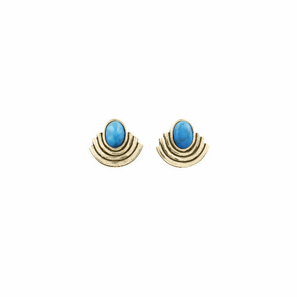 Moonlight Studs (View More Colors) - 22K GOLD PLATED / SIMULATED OPAL - The 2 Bandits - 4