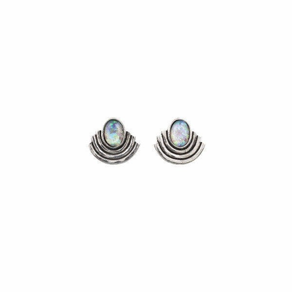 Moonlight Studs (View More Colors) - 22K GOLD PLATED / HOWLITE TURQUOISE - The 2 Bandits - 1