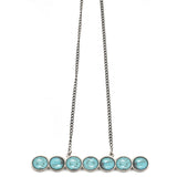 Night Horizon Necklace (view more colors) - ANTIQUE SILVER / HOWLITE TURQUOISE - The 2 Bandits - 1