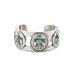 Porter's Thunderbird Cuff (view more colors) - ANTIQUE SILVER / HOWLITE TURQUOISE - The 2 Bandits - 3