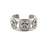 Porter's Thunderbird Cuff (view more colors) - ANTIQUE SILVER / MOONSTONE - The 2 Bandits - 1