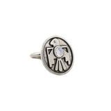 Porter's Thunderbird Ring (view more colors) - ANTIQUE SILVER / MOONSTONE - The 2 Bandits - 3
