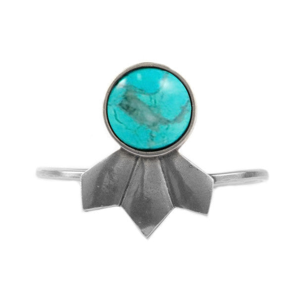 Scarecrow Cuff (view more colors) - ANTIQUE SILVER / HOWLITE TURQUOISE - The 2 Bandits - 1