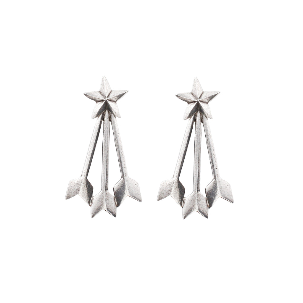 Starstruck Earrings - ANTIQUE SILVER - The 2 Bandits - 1