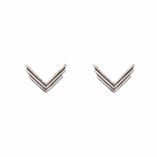 Triple Arrow Studs (View More Colors) - ANTIQUE SILVER - The 2 Bandits - 3