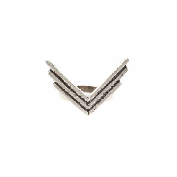 Triple Arrow Ring (View More Colors) - ANTIQUE SILVER - The 2 Bandits - 1
