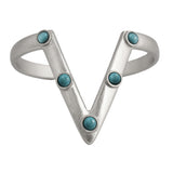 Studded Peakin Cuff (view more colors) - ANTIQUE SILVER / HOWLITE TURQUOISE - The 2 Bandits - 2