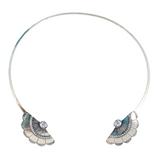 Concho Wing Open Collar (view more colors) - ANTIQUE SILVER / MOONSTONE - The 2 Bandits - 2