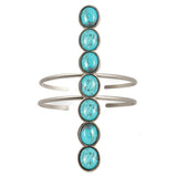 Night Horizon Cuff (view more colors) - ANTIQUE SILVER / HOWLITE TURQUOISE - The 2 Bandits - 1