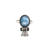 Zulu Dancer Ring (view more colors) - ANTIQUE SILVER / DENIM LAPIS - The 2 Bandits - 3