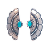 Concho Wing Earrings (view more colors) - ANTIQUE SILVER / HOWLITE TURQUOISE / Howlite Turquoise - The 2 Bandits - 3