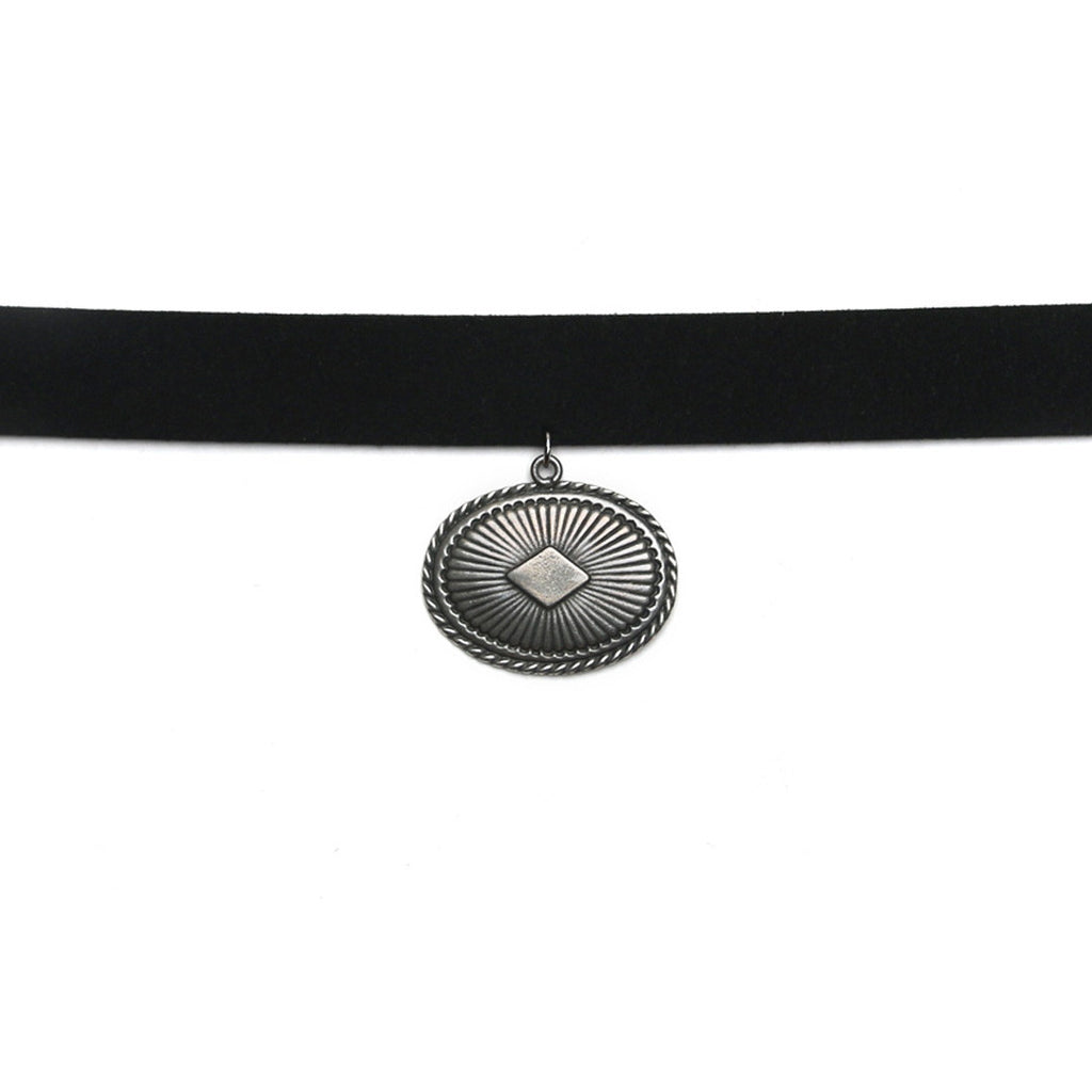 WRANGLER CHOKER - ANTIQUE SILVER - The 2 Bandits - 1