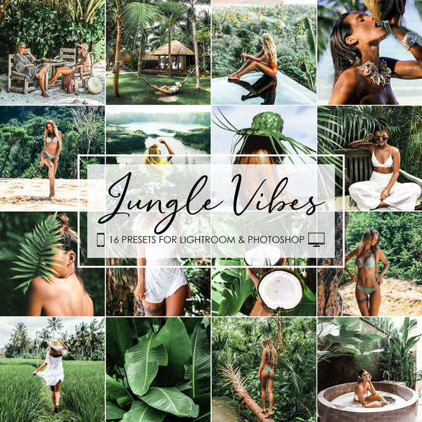 Jungle Vibes Presets For Adobe Lightroom And Photoshop