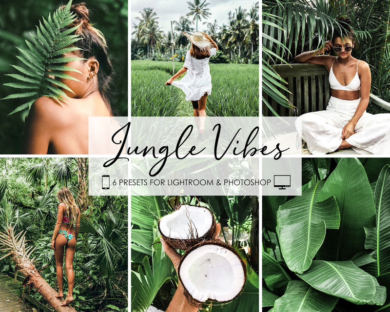 Jungle Vibes Presets For Adobe Photoshop and Lightroom CC