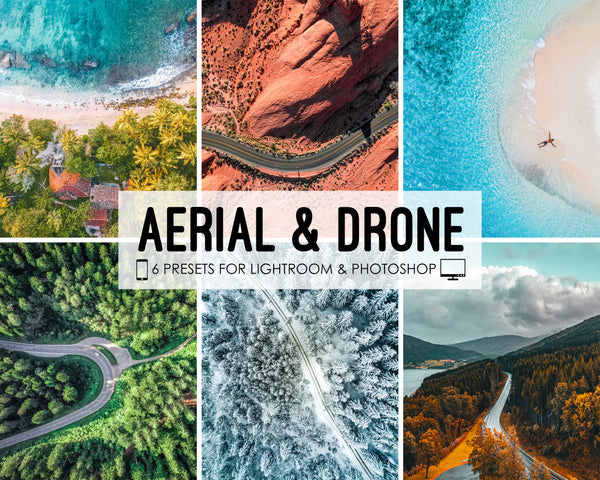 DJI Lightroom Presets for Drones, Aerial Drone Presets for Photoshop and Lightroom