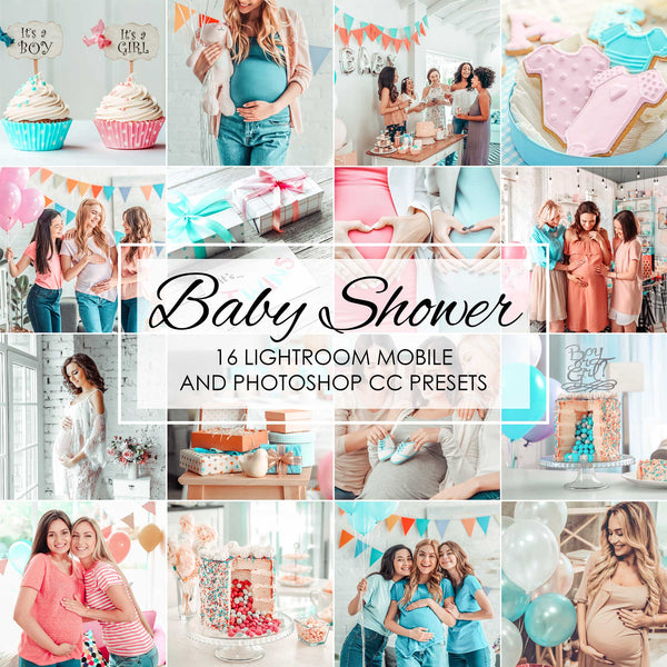 Baby Shower Party Presets For Newborn, Kids and Children In Lightroom Mobile and Photoshop