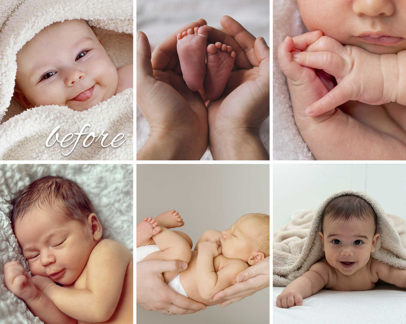 Baby Skin Presets For Adobe Photoshop And Lightroom CC