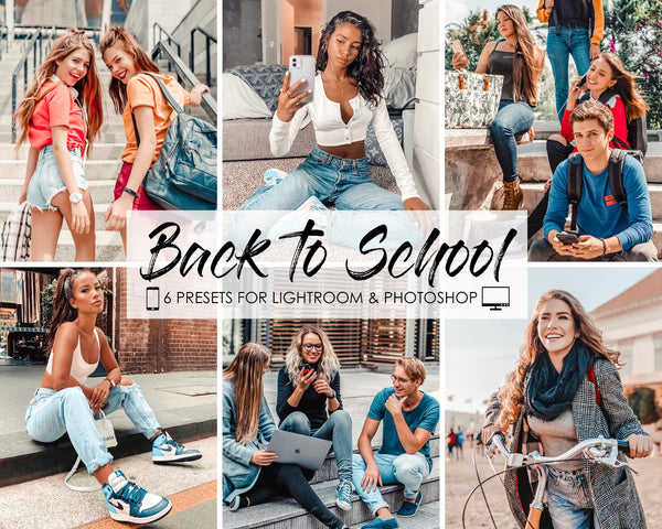 Back To School Lightroom Mobile Filters and Presets, Iphone Presets, Photoshop Presets