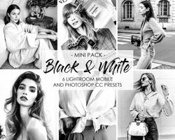 Black and White Lightroom and Photoshop presets